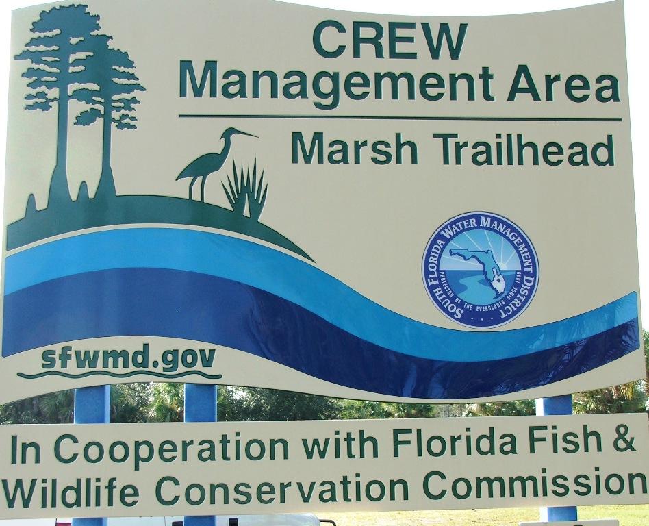 CREW Marsh Trailhead sign
