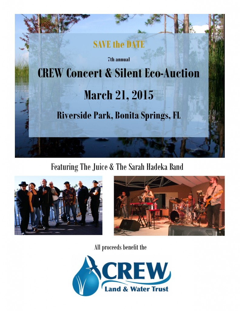 CREW Concert Save the Date flyer